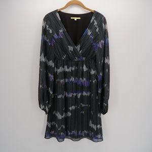 Gianni Bini Chiffon Overlap Long Sleeve Dress